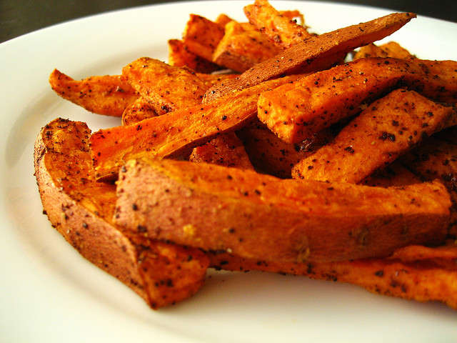 healthy food swaps sweet potato fries